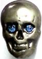 Miniskull blau 10 x 13mm