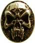 Nordic Skull 20 x 30mm gold