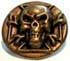 Skullcross 28mm gold