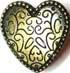 Gotisches Herz 28mm gold