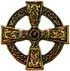 Celtic Cross 40mm gold