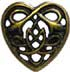 Celtic Heart 32mm gold