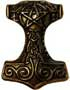 Thors Hammer 39 x 41mm gold