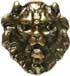 Löwenkopf 33 x 36mm gold