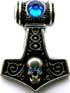 Skullhammer blau 30 x 40mm