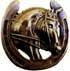 Pferdeamulett 40mm gold