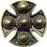 Templerkreuz 48mm gold